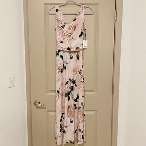 BNWT Calvin Klein Maxi Stretchy Floral Dress